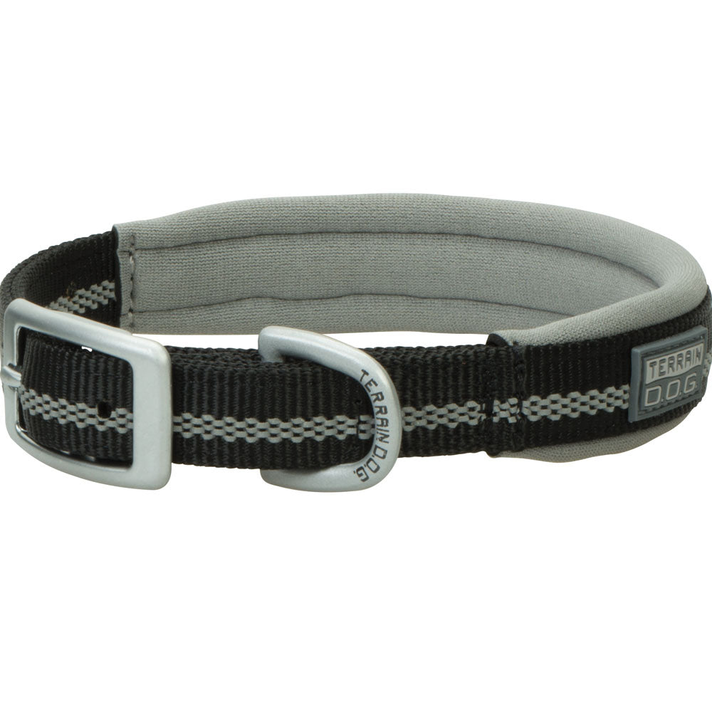 Weaver Leather 3/4-Inch x 13-Inch Terrain D.O.G. Reflective Neoprene Lined Dog Collar Black