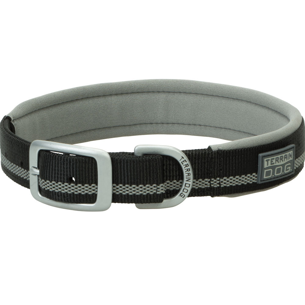 Weaver Leather 1-Inch x 19-Inch Terrain D.O.G. Reflective Neoprene Lined Dog Collar Black