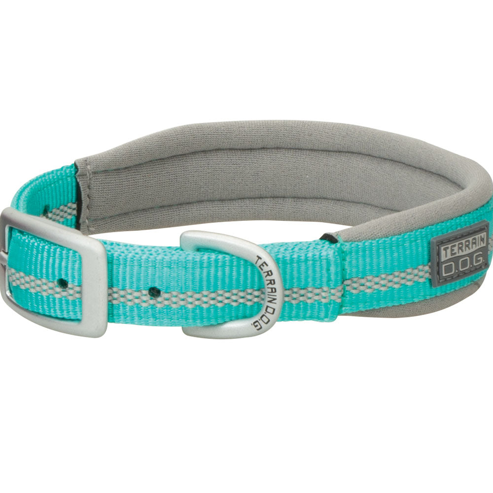 Weaver Leather 3/4-Inch x 17-Inch Terrain D.O.G. Reflective Neoprene Lined Dog Collar Mint