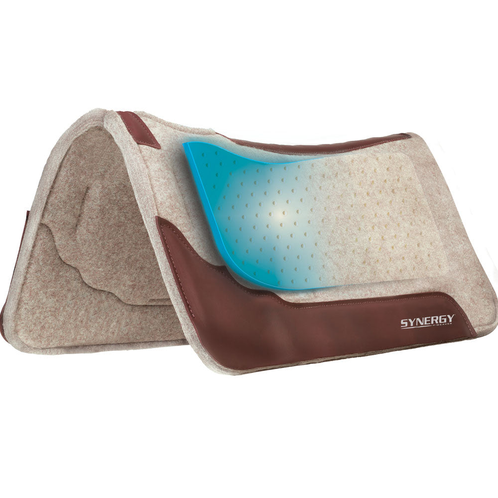 Weaver Leather Synergy Contoured Performance Wool Blend Felt Saddle Pad 31-Inch x 32-Inch