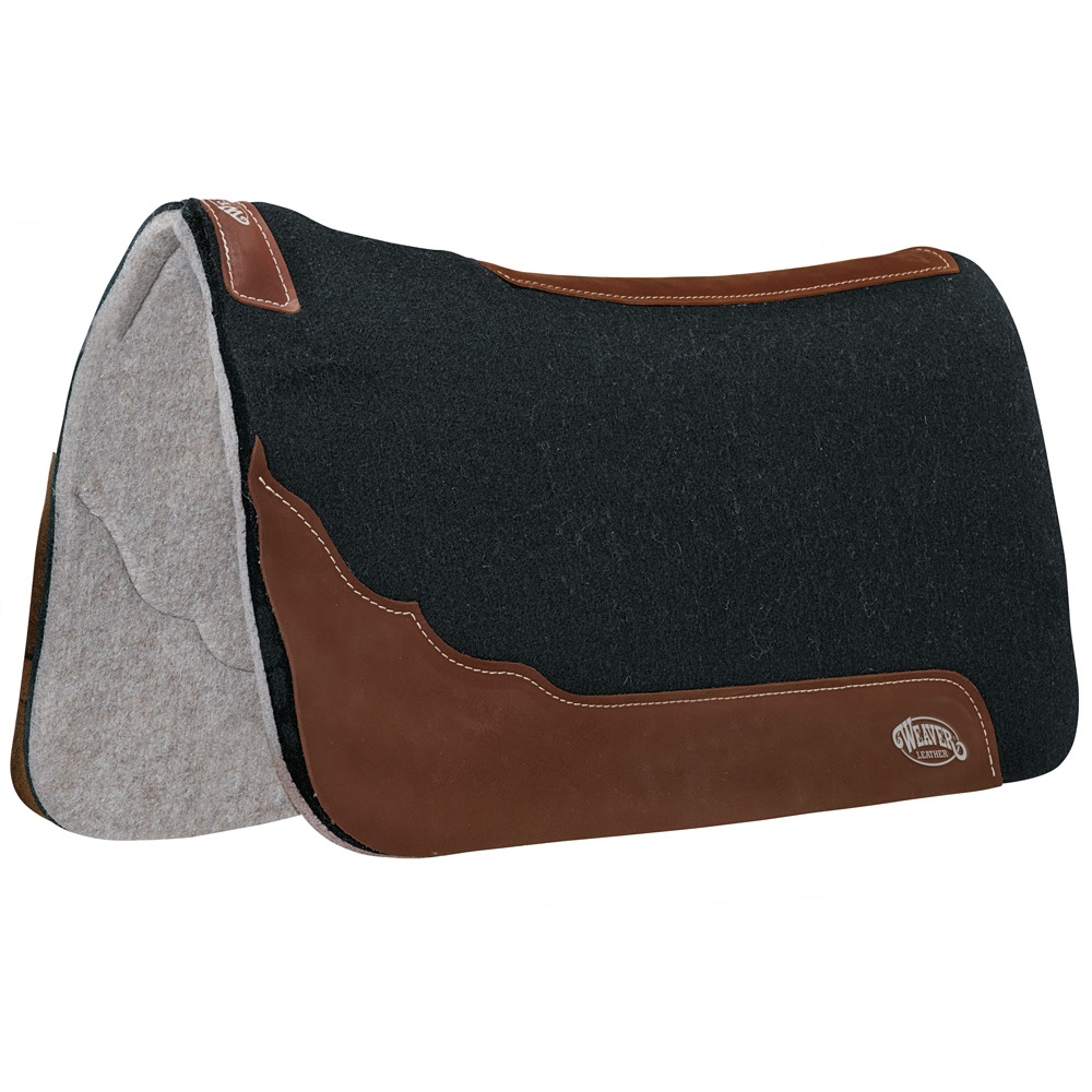 Weaver Leather 31x32 Contoured Felt Saddle Pad Black