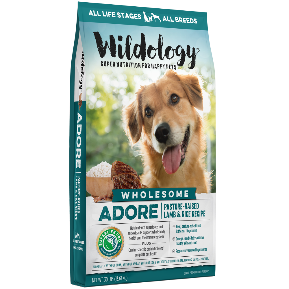Wildology Adore Pasture-Raised Lamb And Rice Dog Food Recipe 30-Lb