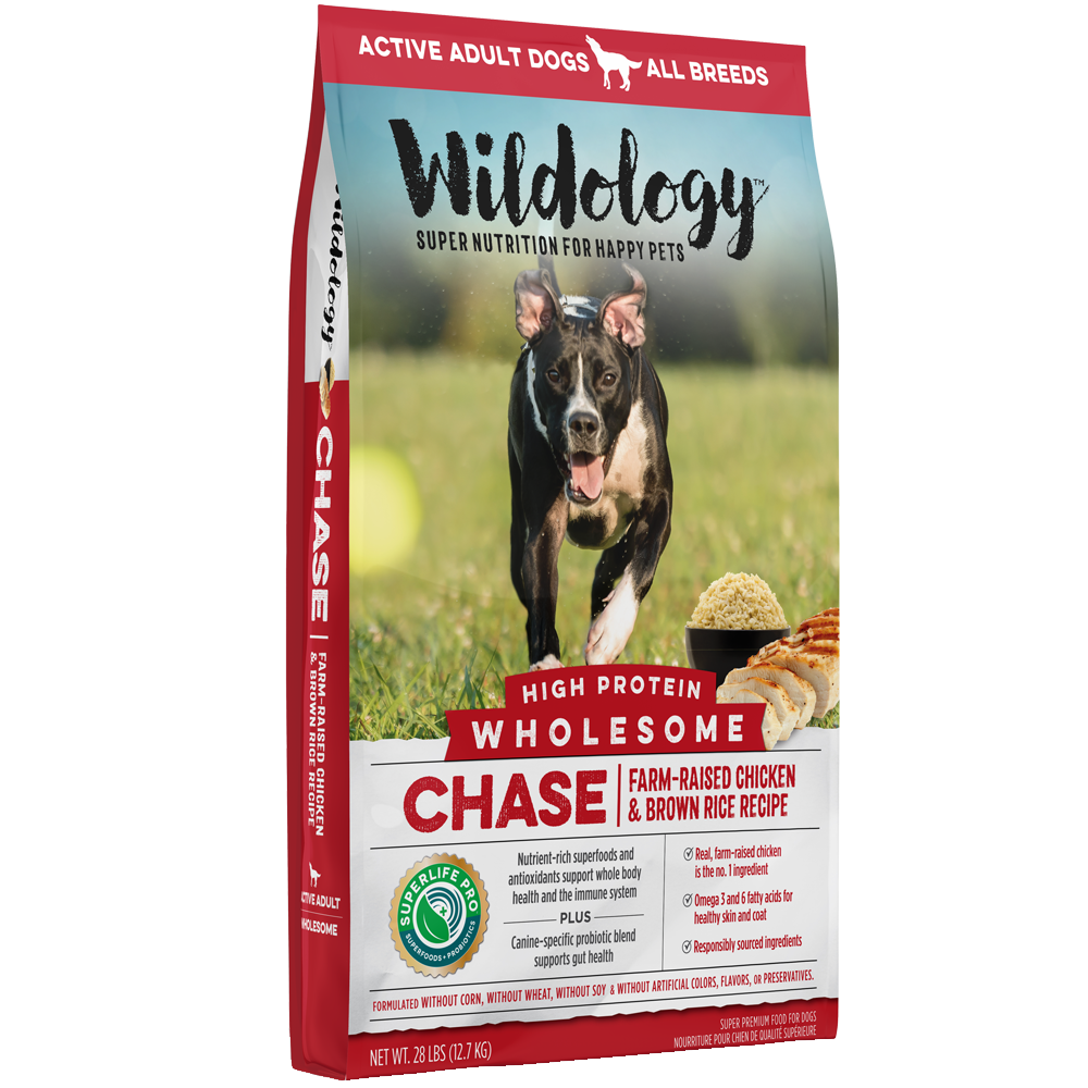 Wildology Chase Farm-Raised Chicken And Brown Rice Dog Food Recipe 28-Lb