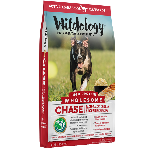 Wildology Chase Farm Raised Chicken And Brown Rice Dog Food Recipe 28 D B Supply