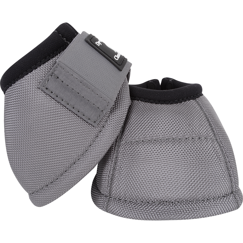 Classic Equine Medium Dyno Turn Bell Boots Gray
