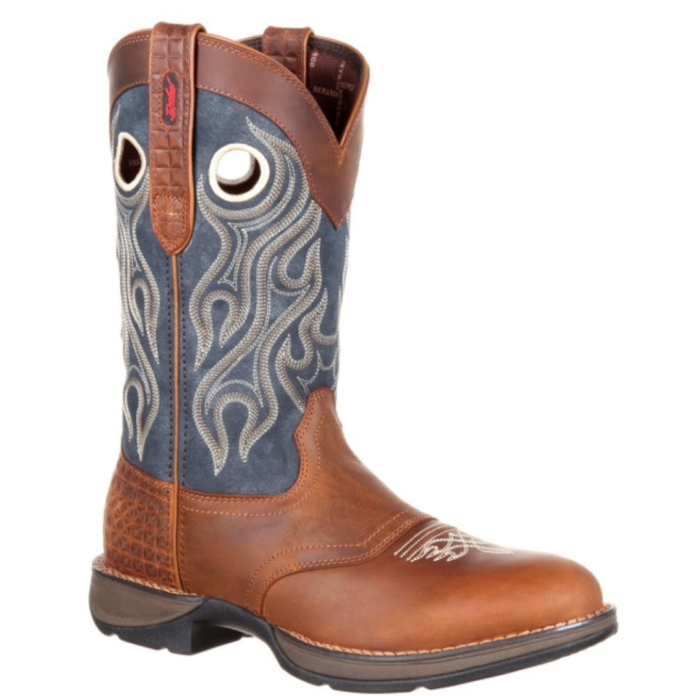 8.5M Mens Rebel Cowboy Boot Brown/Blue