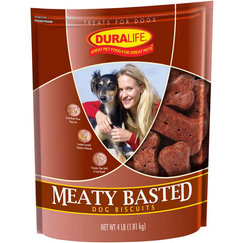 Duralife Meaty Basted Dog Biscuits 4-Lbs
