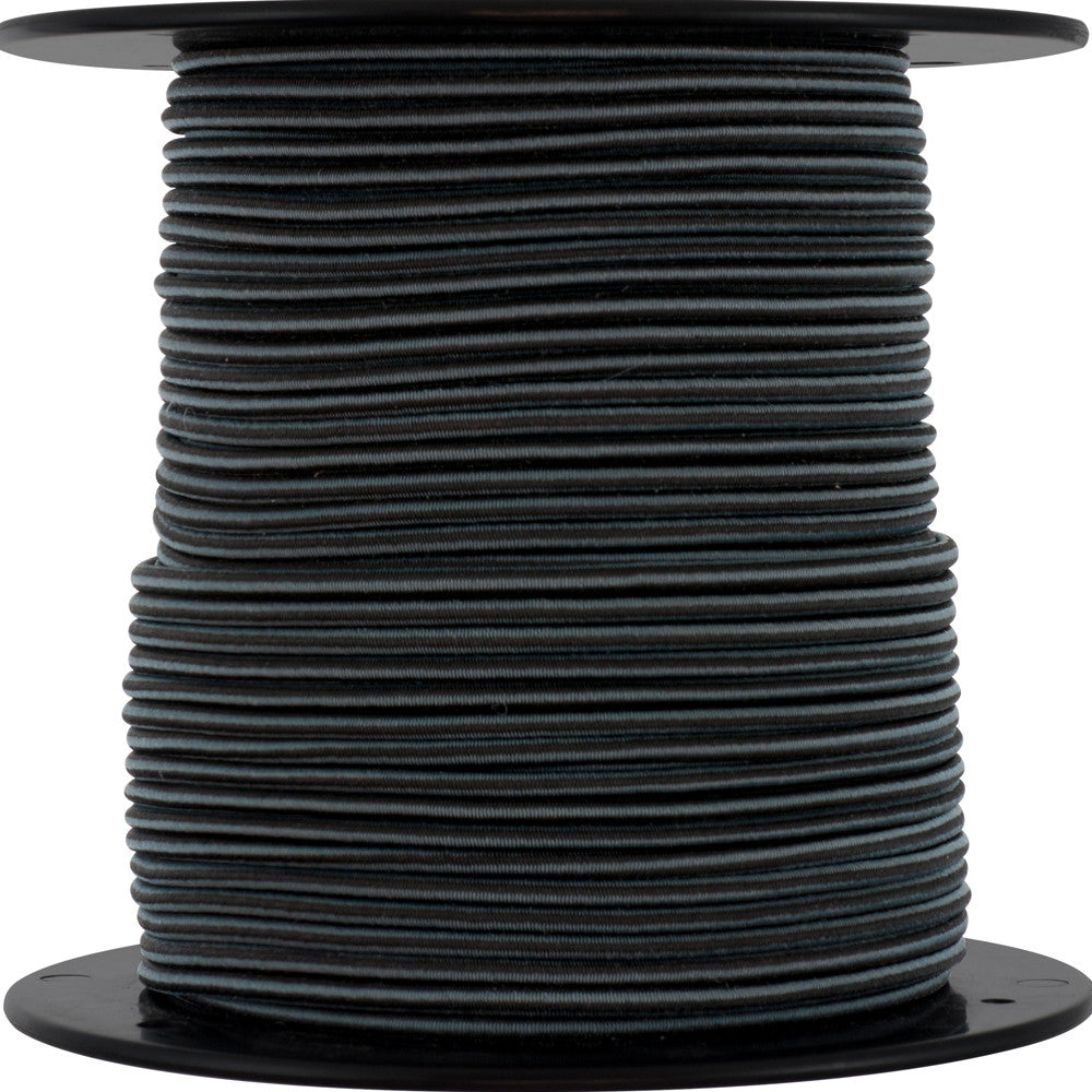 Keeper Corporation 5/32-Inch x 300-Foot Mini Bungee Cord Reel Black With Gray Stripes
