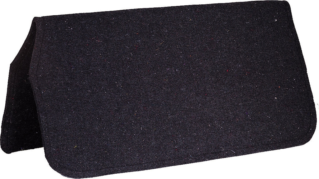 Diamond Wool 32x32x3/8 Wool Felt Saddle Pad Liner Black