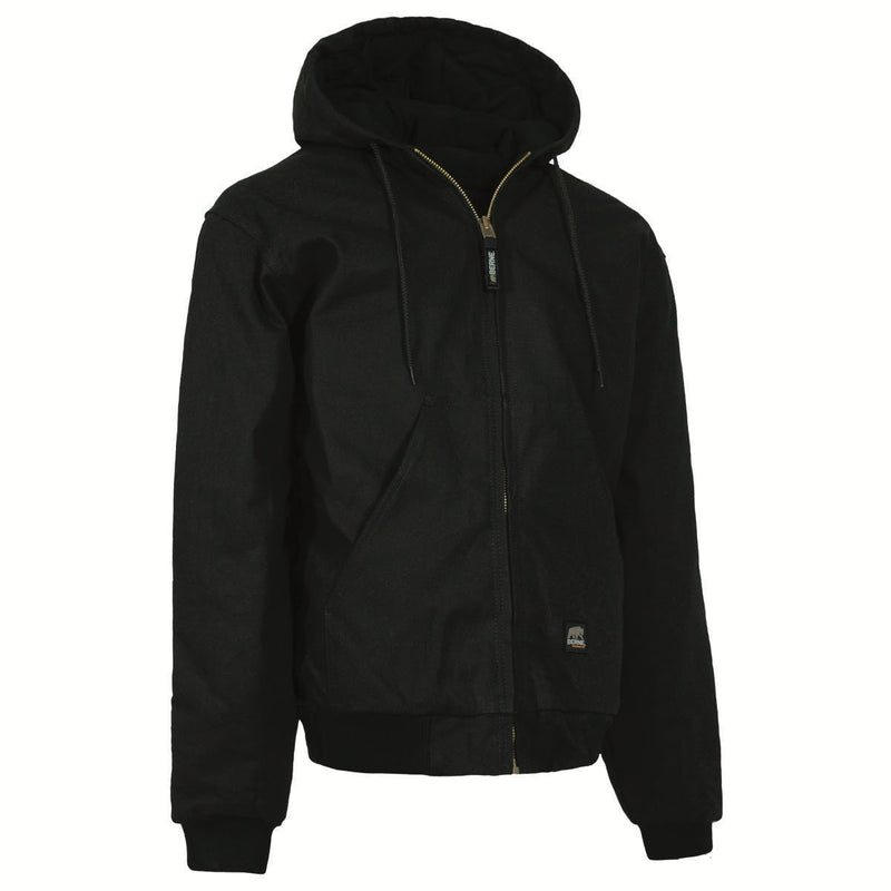 Medium Regular Hooded Jacket Black