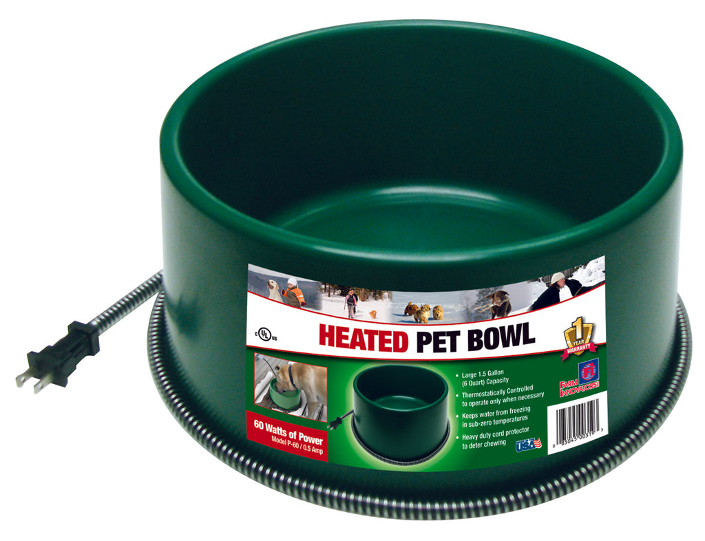 Heated Pet Bowl Grn 1.5gal   8