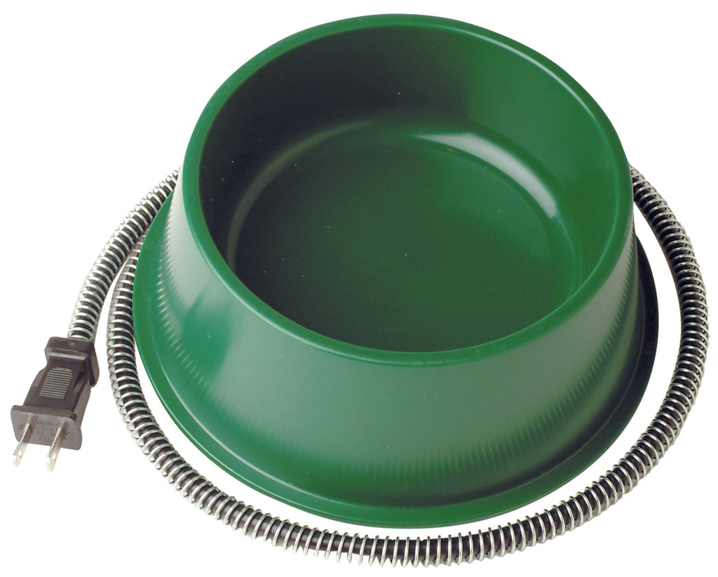 Heated Pet Bowl 1qt Green