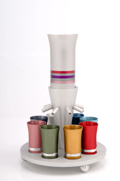 SET OF 8 CUPS - FOUNTAIN001 - Agayof Judaica
