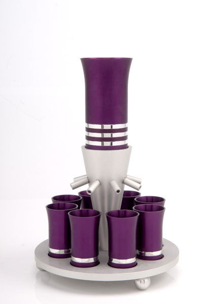 SET OF 8 CUPS - FOUNTAIN007 - Agayof Judaica