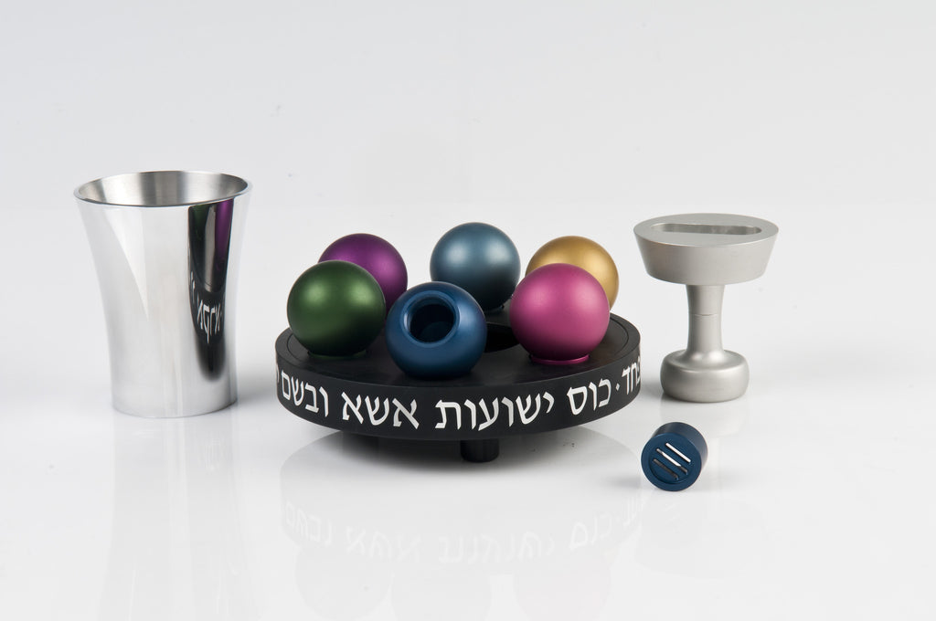 Havdallah Set 020 Black - Agayof Judaica
