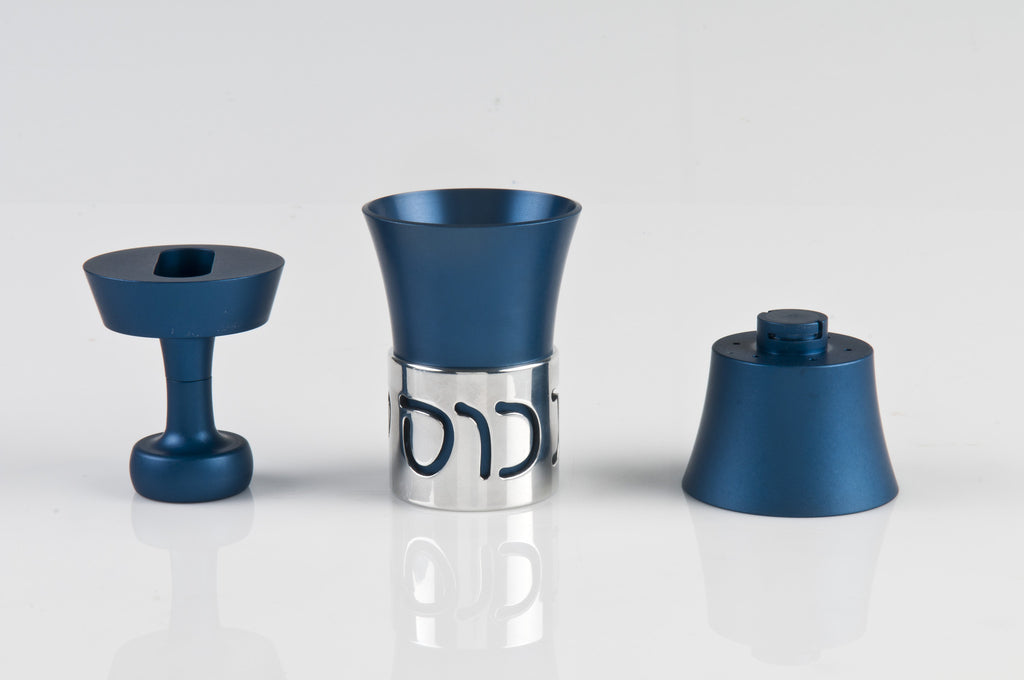 Travel Havdallah Set 023 Blue - Agayof Judaica
