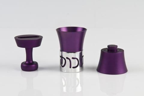 Travel Havdallah Set 025 Purple - Agayof Judaica