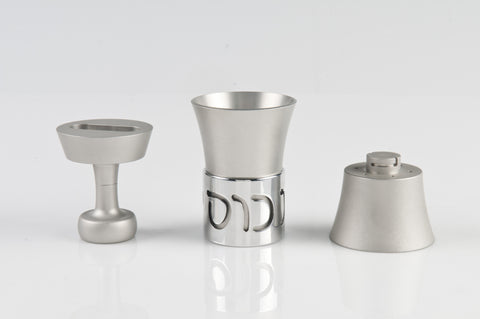 Travel Havdallah Set 027 Silver - Agayof Judaica