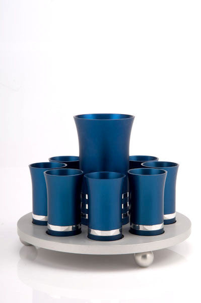 KIDUSH SET FOR 8 - KIDDUSH-SET009 - Agayof Judaica