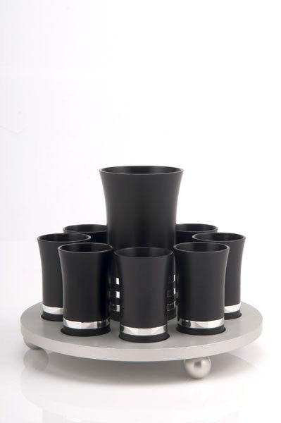 KIDUSH SET FOR 8 - KIDDUSH-SET011 - Agayof Judaica