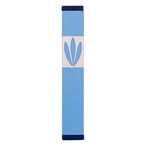 LEAVES SHIN MEZUZAH - SMALL - MZ-190 - Agayof Judaica