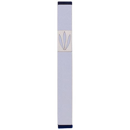 LEAVES SHIN MEZUZAH - MEDIUM - MZ-197 - Agayof Judaica