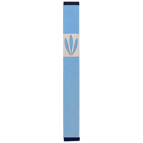 LEAVES SHIN MEZUZAH - MEDIUM - MZ-200 - Agayof Judaica