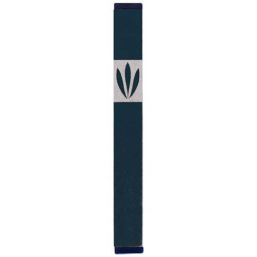 LEAVES SHIN MEZUZAH - MEDIUM - MZ-202 - Agayof Judaica