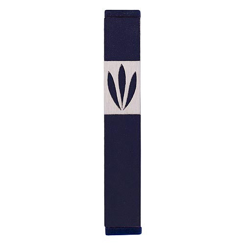 LEAVES SHIN MEZUZAH - MEDIUM - MZ-205 - Agayof Judaica