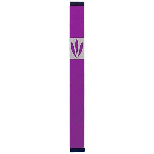 LEAVES SHIN MEZUZAH - LARGE - MZ-211 - Agayof Judaica