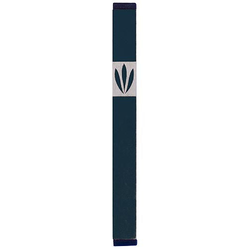 LEAVES SHIN MEZUZAH - LARGE - MZ-212 - Agayof Judaica