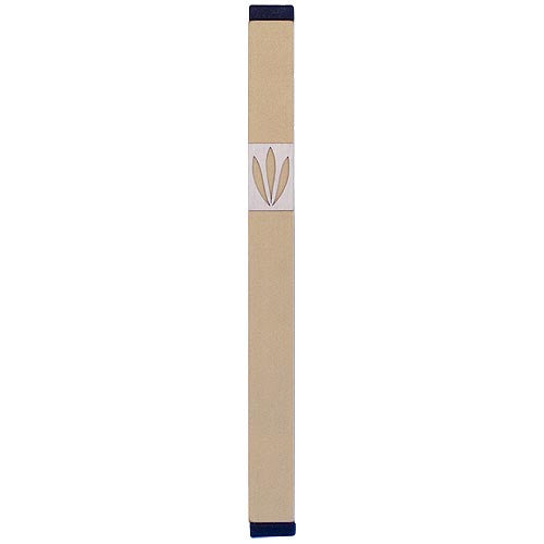 LEAVES SHIN MEZUZAH - XL - MZ-216 - Agayof Judaica