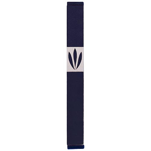 LEAVES SHIN MEZUZAH - XL - MZ-225 - Agayof Judaica