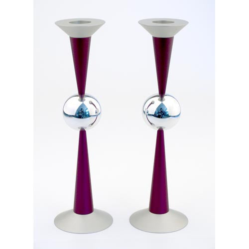 THE BALL CANDLE HOLDERS - MEDIUM - CD-038 - Agayof Judaica