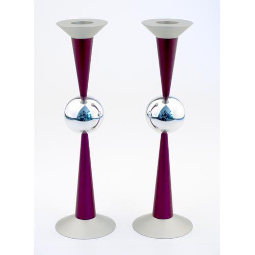THE BALL CANDLE HOLDERS - LARGE - CD-044 - Agayof Judaica