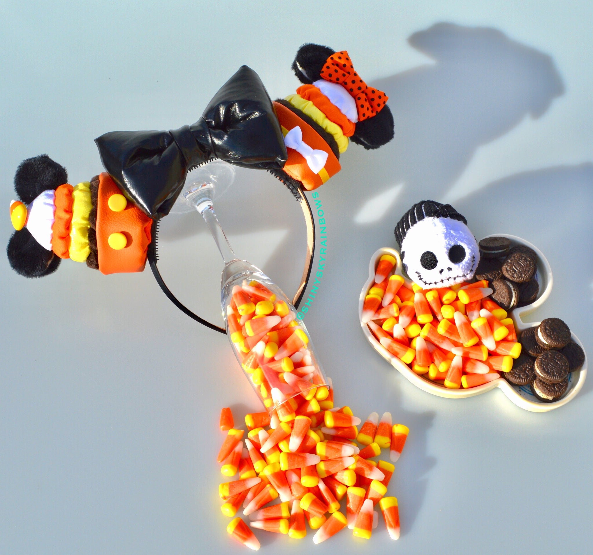 Halloween Candy corn Cupcake Ears