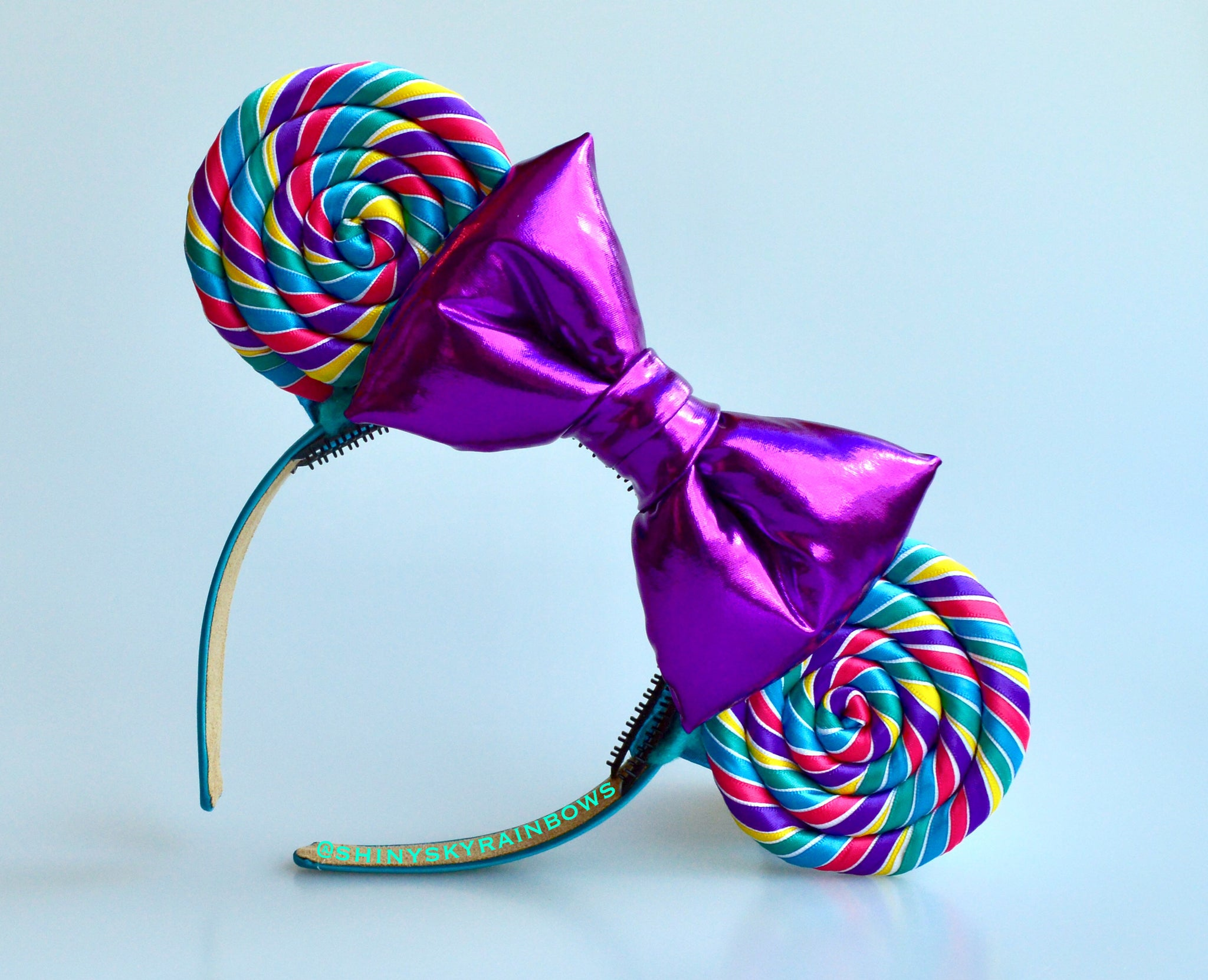 Purple bow Rainbow Lollipop Ears