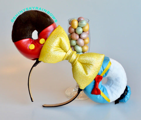 Mr. Mouse Chocolate Donut and Duck Donut Ears