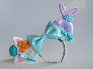 Artist Cat and Dancer Bunny Donut Ears
