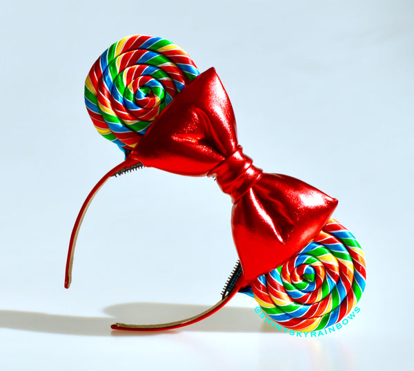 (Coming soon, January 26th at 8pm EST/ 5pm PST. ) Classic Rainbow Lollipop Ears