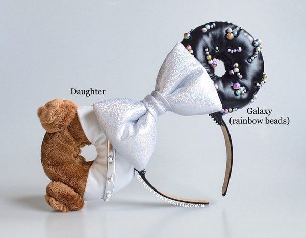 A pair of Mix and Match Galactic Doughnut Ears, Please message us your Mix and Match choice after your purchase