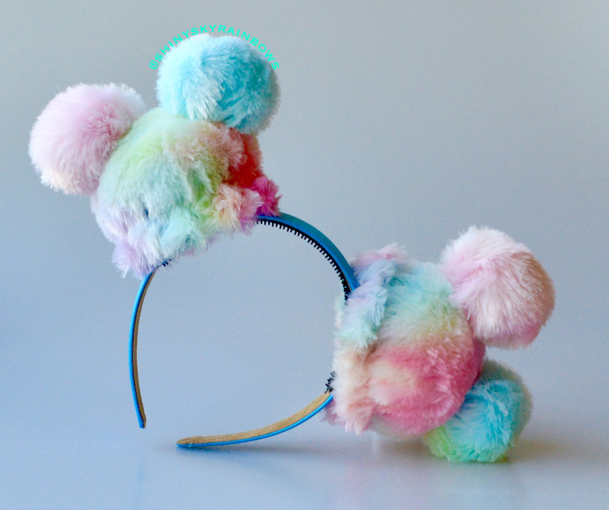 (Restock August 4th at 8pm EST/ 5pm PST) No Bow Rainbow Sherbet Ears