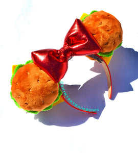(coming soon, February 23rd at 8pm EST/5pm PST) Cheeseburger Ears with bow
