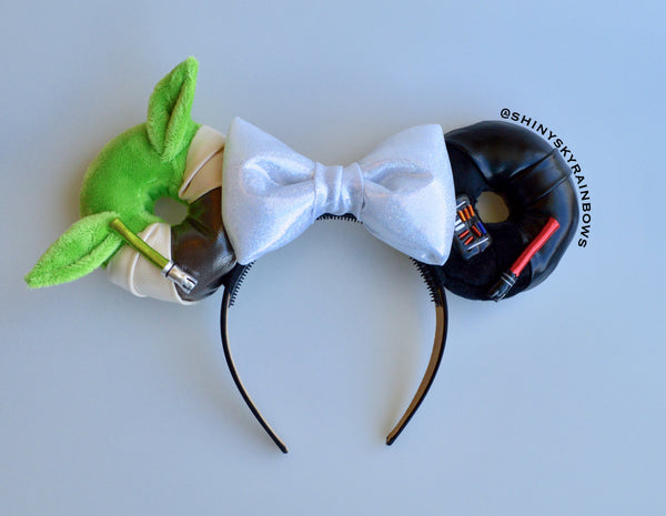 Light side (green) and Dark side Galactic Doughnut Ears