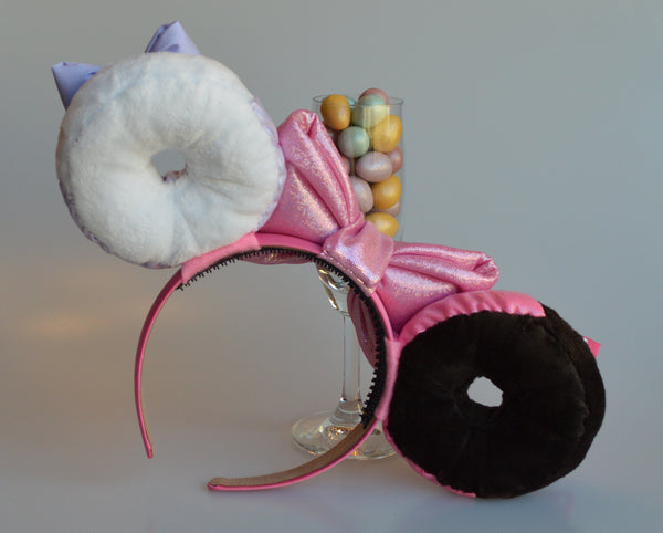 Pink and Purple Donut Ears