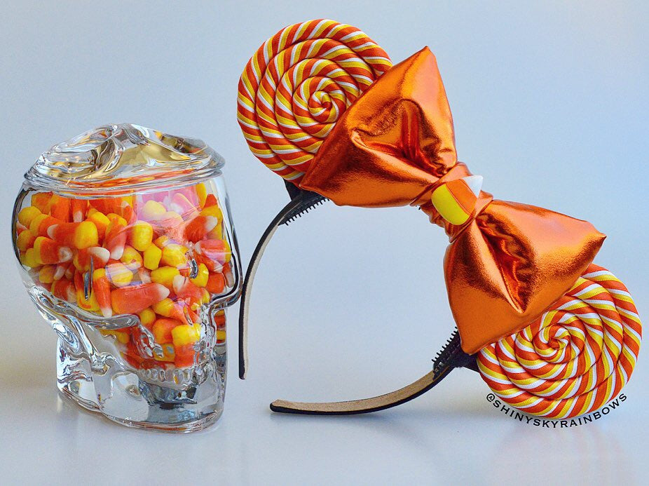 (Restock August 11th at 8pm EST/ 5pm PST) Orange bow, Candy corn Lollipop Ears