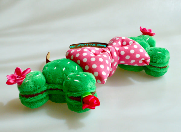 Coming soon April 25th at 6pm PST/  Cactus Macaron Ears / Polka dot pink bow