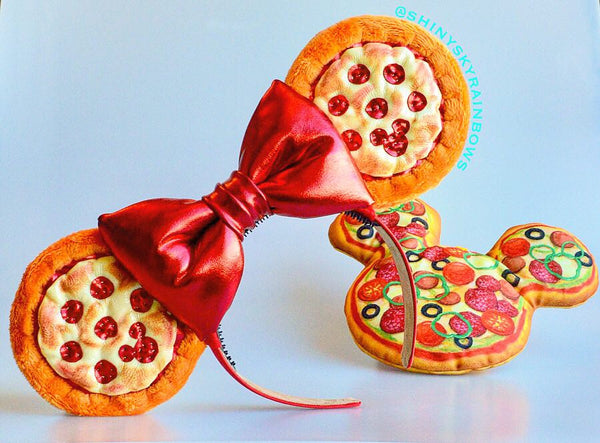 (Pre-order December 15th at 8pm EST/5pm PST *ship in 2-3 weeks) Pizza Ears with a red bow