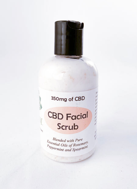 Sacred Leaf best CBD face scrub