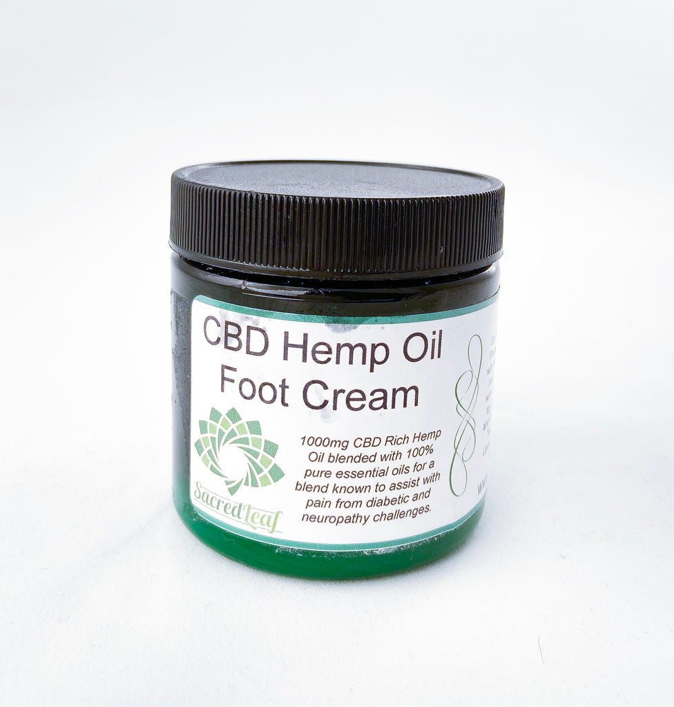 Sacred Leaf best CBD foot cream